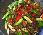 干鍋臘肉茶樹菇