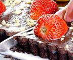 自制草莓巧克力塔