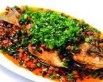 豆豉焖鲈鱼