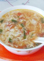 餐桌上最简单的养生菜谱 番茄蛋花汤