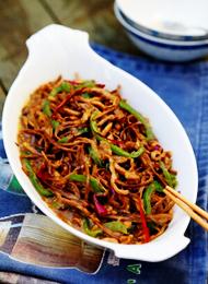 高营养菜谱 茶树菇肉丝