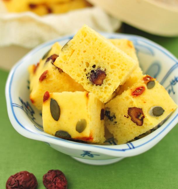 黃金發糕的做法大全_黃金發糕的家常做法怎么做好吃
