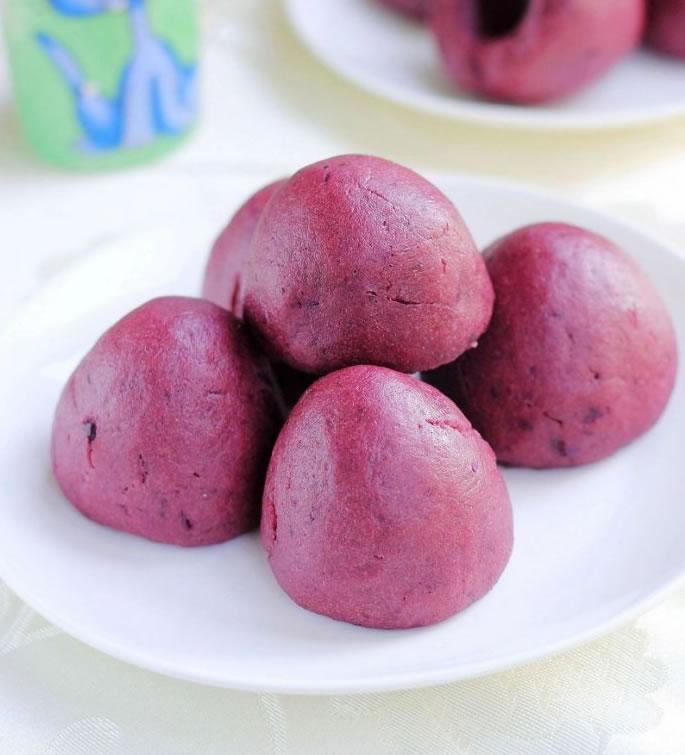 奶香紫薯窩窩的做法大全_奶香紫薯窩窩的家常做法怎么做好吃