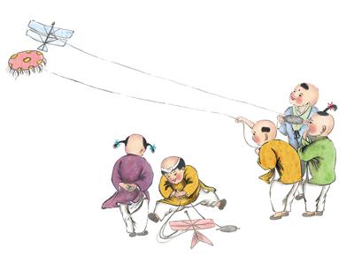 清明节习俗儿童画