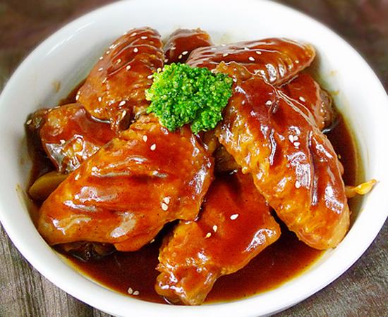 菜名焖蚝油鸡胗的鸡翅图片