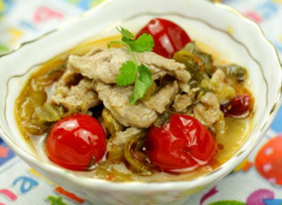 酸菜肉片汤