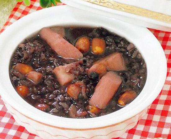 山药莲子黑米粥的做法大全_山药莲子黑米粥的家常做法怎么做好吃