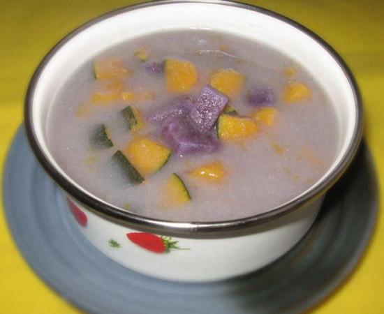 紫薯南瓜小米粥的做法大全_紫薯南瓜小米粥的家常做法怎么做好吃