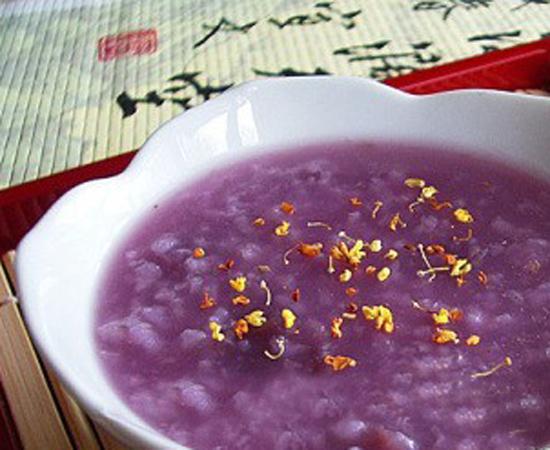 桂花紫薯粥的做法大全_桂花紫薯粥的家常做法怎么做好吃