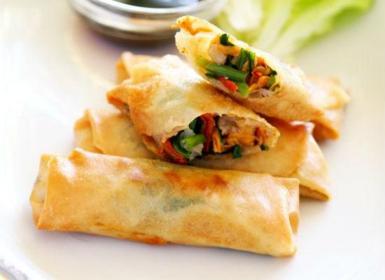 韭菜肉丝春卷的做法大全_韭菜肉丝春卷的家常做法怎么做好吃