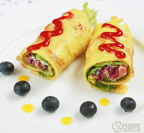 鸡蛋卷饼的做法_鸡蛋卷饼的家常做法_鸡蛋卷饼怎么做好吃