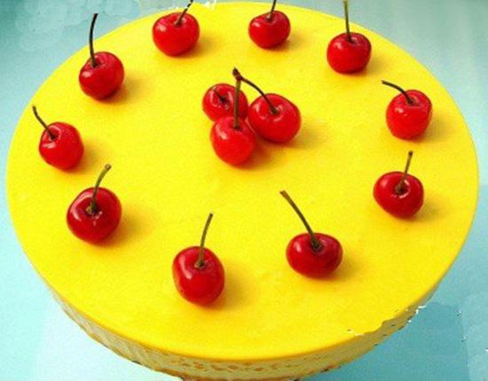 南瓜慕斯樱桃蛋糕的做法大全_南瓜慕斯樱桃蛋糕的家常做法怎么做好吃