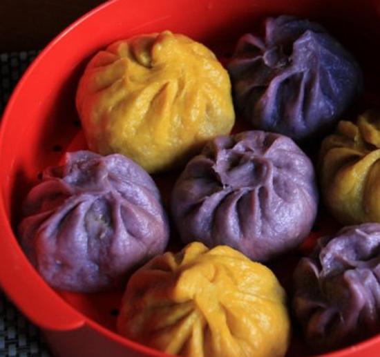 南瓜紫薯肉包子的做法大全_南瓜紫薯肉包子的家常做法怎么做好吃