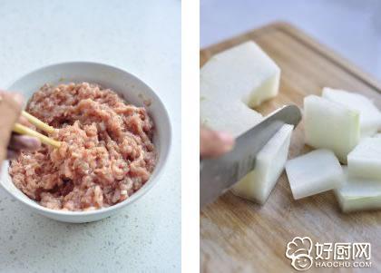 肉丸冬瓜汤的做法步骤_2