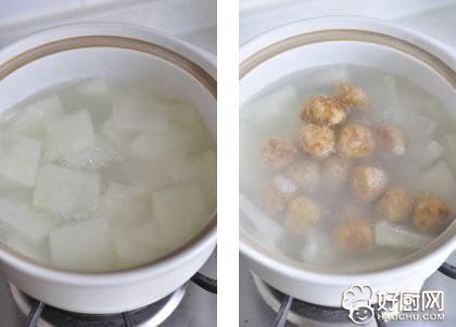 肉丸冬瓜汤的做法步骤_5