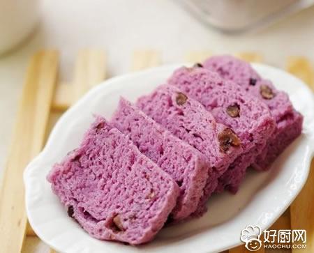 蜜豆紫薯发糕的做法_蜜豆紫薯发糕的家常做法大全怎么做好吃