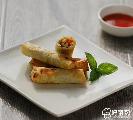 韭黄三鲜春卷的做法_韭黄三鲜春卷的家常做法大全怎么做好吃