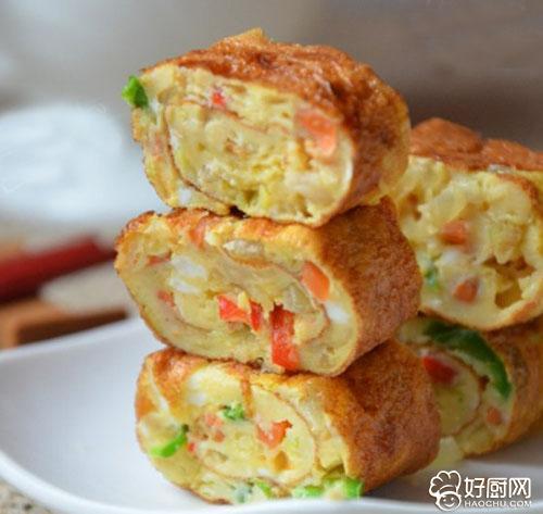韩式鸡蛋卷的做法_韩式鸡蛋卷的家常做法大全怎么做好吃