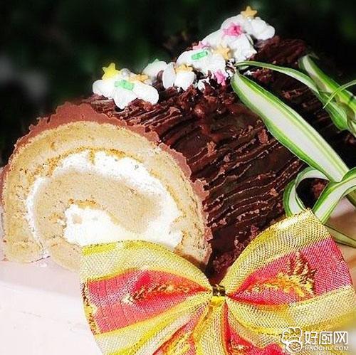 圣诞树干蛋糕的做法_圣诞树干蛋糕的家常做法大全怎么做好吃