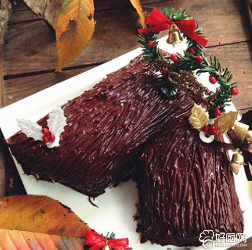 圣诞树桩蛋糕的做法_圣诞树桩蛋糕的家常做法大全怎么做好吃