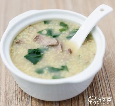猪肝小米粥的做法_猪肝小米粥的家常做法大全怎么做好吃