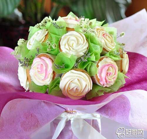 花束蛋糕的做法步骤_1