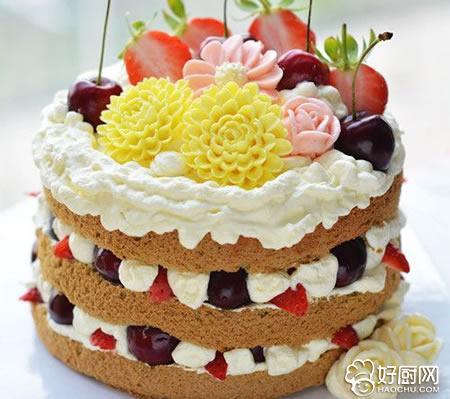 抹茶味裸蛋糕的做法步骤_1