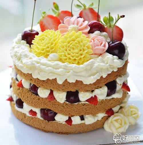 抹茶味裸蛋糕的做法步骤_6