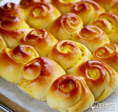 卡仕达酱面包卷的做法_卡仕达酱面包卷的家常做法大全怎么做好吃