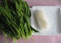 菠菜拌粉丝的做法步骤_1