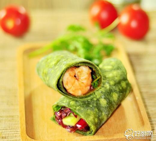 鲜虾仁菠菜卷的做法步骤_3