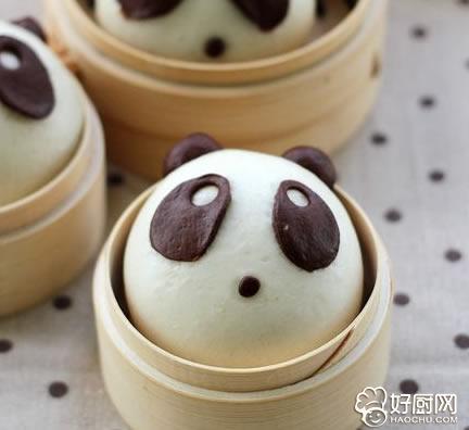 熊猫豆沙包的做法_熊猫豆沙包的家常做法大全怎么做好吃
