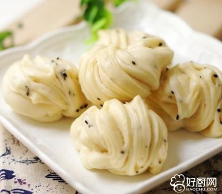 腐乳黑芝麻花卷的做法_腐乳黑芝麻花卷的家常做法大全怎么做好吃