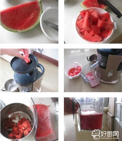 鲜榨西瓜汁的做法步骤_1