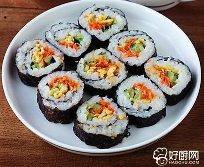 肉松沙拉紫菜包饭的做法_肉松沙拉紫菜包饭的家常做法大全怎么做好吃
