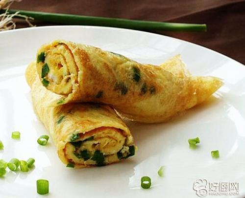 香葱鸡蛋卷的做法_香葱鸡蛋卷的家常做法大全怎么做好吃