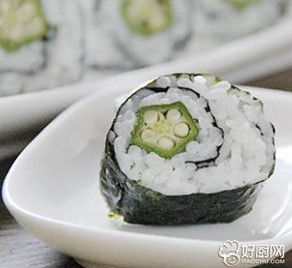 简易秋葵寿司的做法_简易秋葵寿司的家常做法大全怎么做好吃