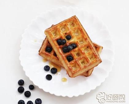 蓝莓焦糖华夫饼的做法_蓝莓焦糖华夫饼的家常做法大全怎么做好吃
