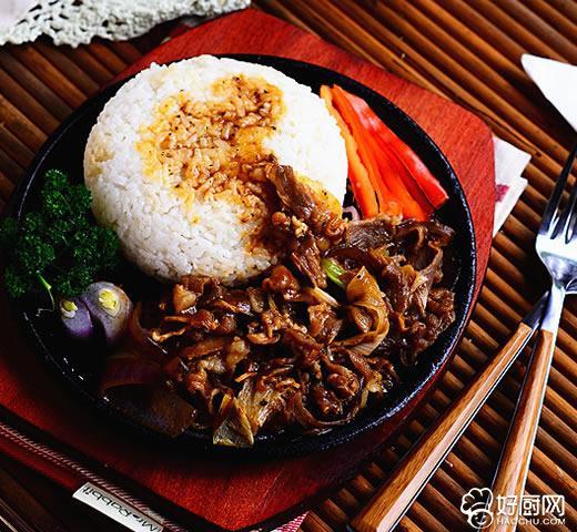 黑椒豆角饭酸菜肥牛谱图片