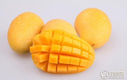 芒果为漆树科芒果属热带常绿大乔木,高9到27米,叶为披针形,油绿而发亮
