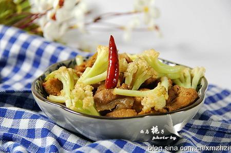 干锅花菜豆腐的做法_1