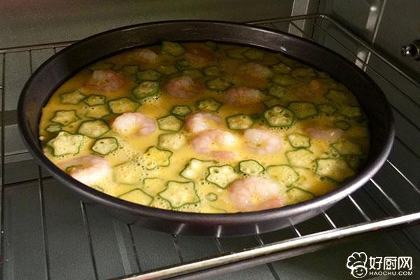 秋葵虾仁鸡蛋饼的做法步骤_6