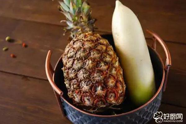 白萝卜菠萝汁的做法步骤_1