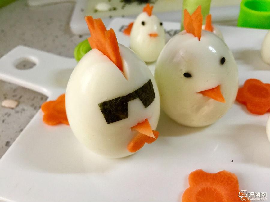 儿童早餐—快乐的小鸡一家的做法步骤_7
