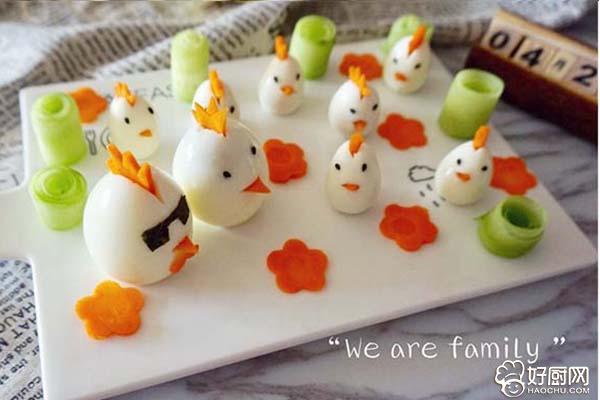 儿童早餐—快乐的小鸡一家的做法步骤_8