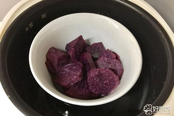 紫薯豆沙茶巾绞的做法步骤_6