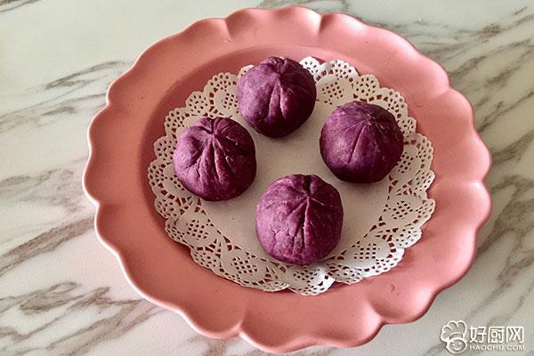 紫薯豆沙茶巾绞的做法步骤_12