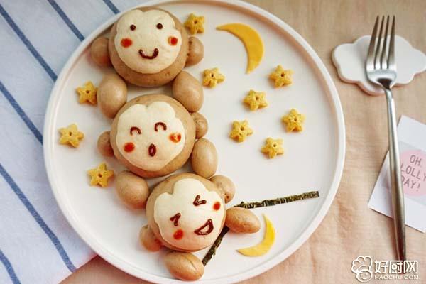 猴子捞月豆沙包的做法步骤_18