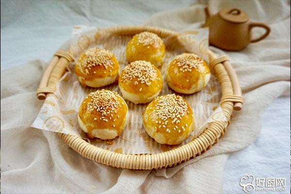 白豆沙蛋黄酥的做法步骤_23