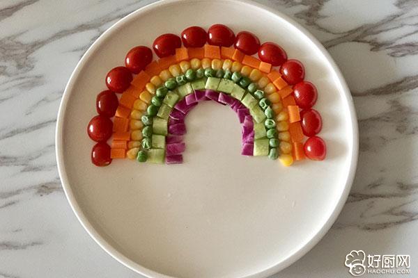 彩虹蔬菜馒头沙拉的做法步骤_11